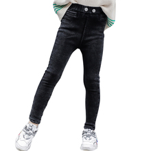 Girls Jeans Winter Warm Thick Casual for Autumn Kid Children's 6/8/10/12-14