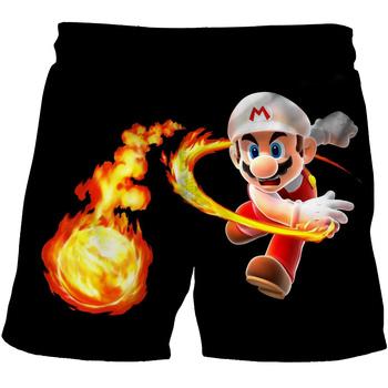 2020 spodenki w stylu Cartoon Super Mario spodenki chłopięce dla dzieci spodenki Sonic dziecięce letnie spodenki plażowe luźne spodenki 4-14Yrs tanie i dobre opinie FANAN Poliester Szorty Pasuje prawda na wymiar weź swój normalny rozmiar Chłopcy Na co dzień Elastyczny pas Boys Girls