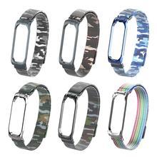 Сменный ремешок для наручных часов Xiaomi mi Band 3 4 красочные часы mi lanis из нержавеющей стали часы на магнитном ремешке браслет