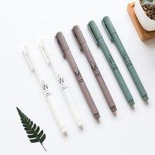 Mohamm – stylo à Gel givré Simple, 0.35mm, Tube noir à aiguille complète, noyau et capuchon interchangeables