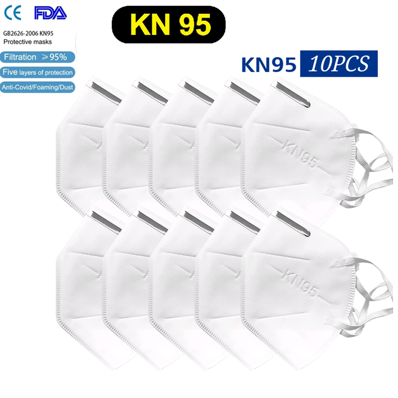 5PCS Kn95 Washable Protective Mask 5 Layers Anti-dust Face Protection Mask Maldehyde Masks Prevent Bacteria Anti-virus Masks