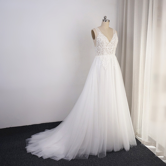Свадебные платья в стиле бохо, ТРАПЕЦИЕВИДНОЕ пляжное платье невесты из тюля с изображением слоев, Прямая поставка