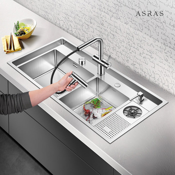 Asras 10050MD  304 luxury handmade kitchen sink defrosting water sprinkler with tap accessories drainer free shipping DHL 6es7216 2ad23 0xb8 6es7 216 2ad23 0xb8 with free dhl