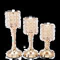 Classic Portable Candlesticks Crystal Glass Candle Holder Terrarium Wedding Vase Bougeoir Home Hotel Bar Decor 30ZT207