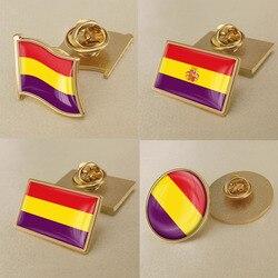 Испанский (1931-1939) Гражданский флаг второй флаг испанской республики заколки/броши/значки