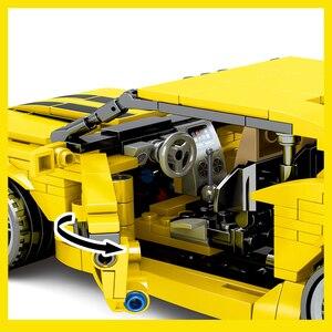 Image 4 - Sembo City Technic F1 sport Racer model klocki Mustang wyścigówka cegły dzieci zabawka edukacyjna prezent dla dzieci