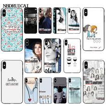 NBDRUICAI American TV Greys Anatomy Nurse doctor Pattern Phone Case for iPhone 11 pro XS MAX 8 7 6 6S Plus X 5 5S SE XR case iyicao american tv greys anatomy soft silicone case for iphone 11 pro max xr x xs max 6 6s 7 8 plus 5 5s se phone case