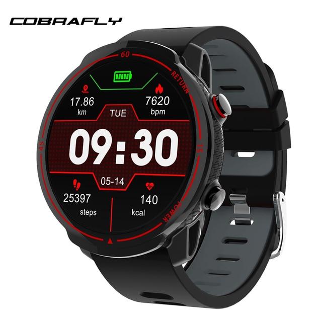 Cobrafly T30 Sports Smart Watch Men Fitness Tracker Heart Rate Monitor 1.3 Inch Full Round Screen Ip68 Waterproof Smartwatches