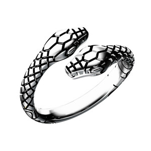 Vintage Double Head Snake Rings for Women and Men Ladies Finger Ring Jewelry Unisex Open Adjustable Size Animal Ring Man