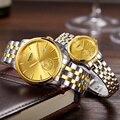 ROSDN Ограниченная серия, женские часы, люксовый бренд, Япония, автоматические механические часы, 24 K, золотой дизайн, 50 м, водонепроницаемые ча...