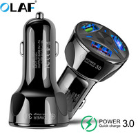 OLAF Universal USB Car Charger 5V 3.1A Mini Charger Fast Charging With LED for Mobile Phone Smart phone Xiaomi Samsung iPhone X