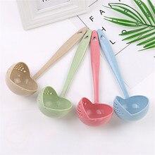Современный многофункциональный 2 в 1 с длинной ручкой ложка для супа домашняя кухня креативный фильтр для супа инструменты для приготовления пищи аксессуары