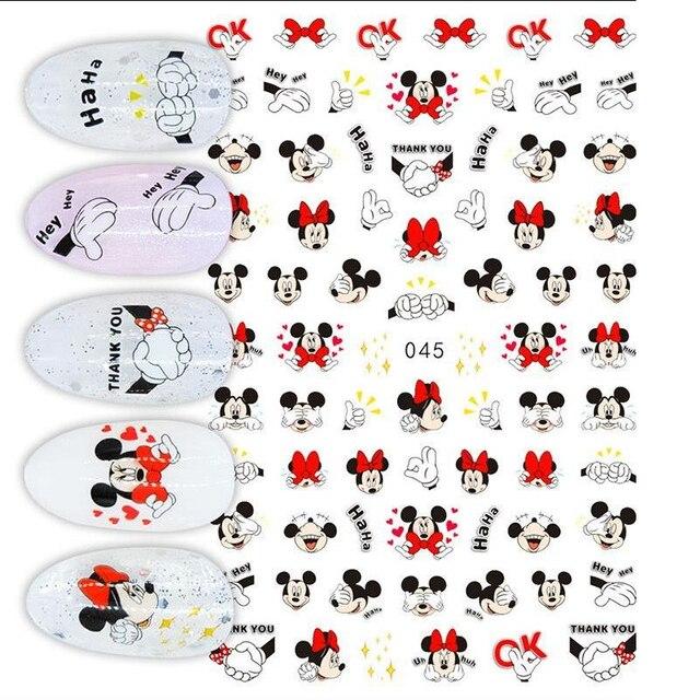 1Pcs Cartoon Animal Brand Nail Art Stickers Anime Love Stars Nail Art Decoration Repair Accessories 5