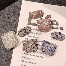 럭셔리 이어폰 애플 에어팟 프로 2 1 귀여운 AirPod 에어 포드 Pro 2 3 블링 다이아몬드 하드 쉘 보호 커버