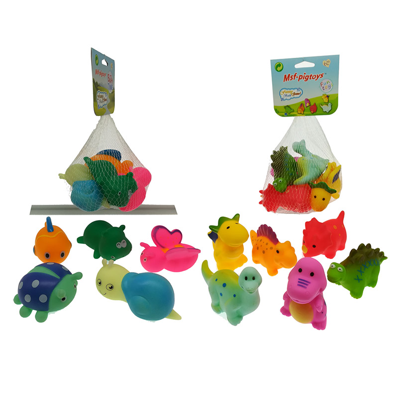 Baby Bath Rubber Floating Squeeze Toy Tortoise Cartoon Animal Dinosaur Bathroom Water Play Squeaky Bathing Toys
