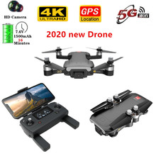 2020 NEW 4k Drone 5G WIFI FPV HD Camera Brushless Motor quadcopter Gesture Control Foldable Drones 4k drone with gps VS SG906