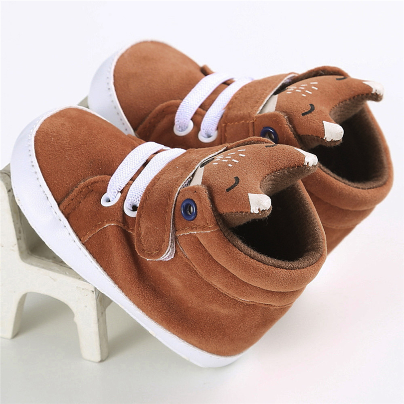 Newborn Baby Cartoon Fox Warm Boots Toddler Boys Girls Fashion Cute Solid Cotton Shoes First Walkers Short Boots 0-18 Month A20