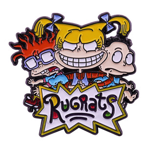 Anime Rugratg Gowild Brooch and Lapel Pin Cartoon Classic Anime 90s Fan Collection Gifts