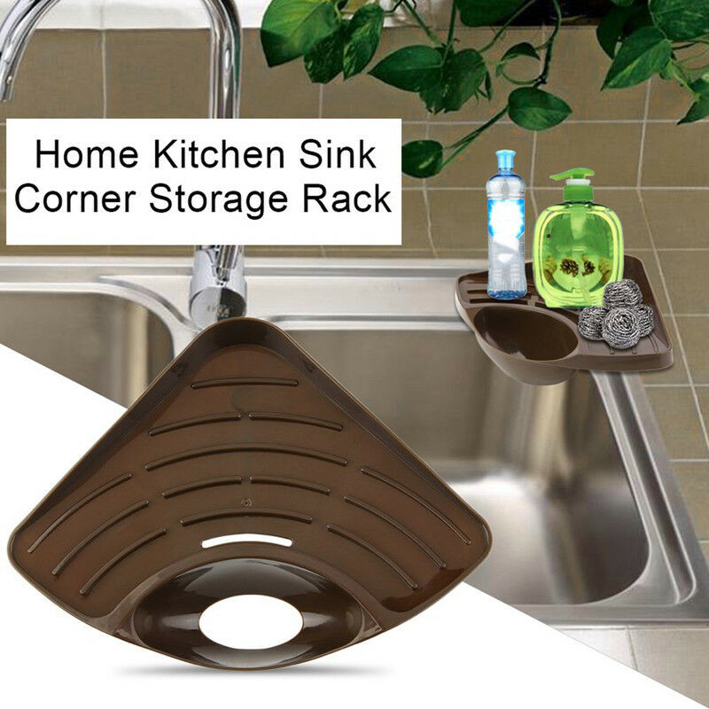 2020 Newest Home Kitchen Sink Corner Storage Rack Solid Color Sponge Holder Organizer Kitchen Sink Corner Storage Rack Brown Racks Holders Aliexpress