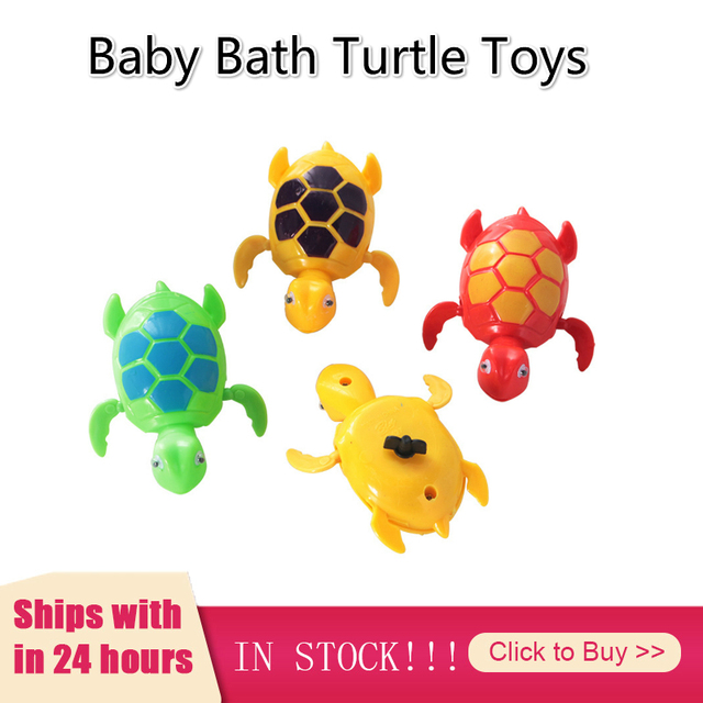 Baby Boy Bath Toys Turtle Swim Play Swimming Pool Accessories Funny Toys Chain Turtle Children Classic Toys Clockwork Jouet Bebe