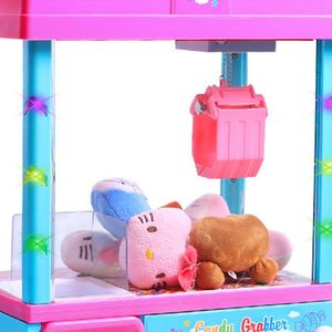 Claw Arcade Game Candy Dispenser for Kids Mini Toy Vending Machine with Sounds 63HE