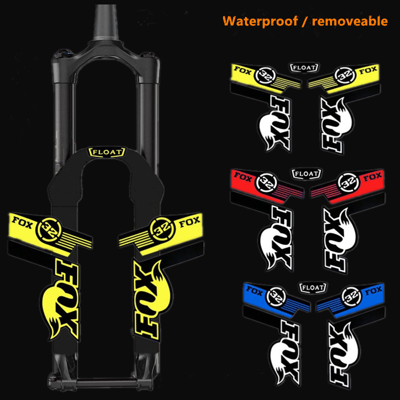 Fox Factory Float 32 Mountain Bike Fork Sticker MTB Speed Down DH AM XC Carved Bicycle  Waterproof Front Fork Decals Films