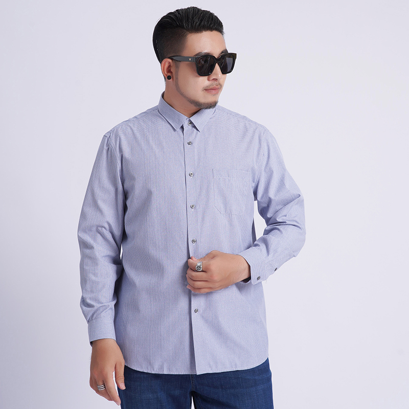Plus Size 8xl 7xl Free Shipping 2020 New Arrival Fashion Lattice Men Long Sleeve Spring Extra Large Cotton Casual Dress Shirts