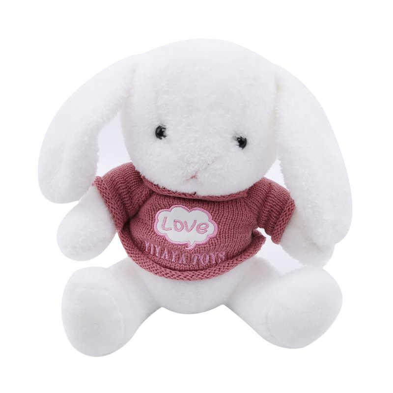 Padrão adorável lop boneca longo orelha de coelho prata dólar pelúcia coelho boneca brinquedos natal boxe coisas mulher presente
