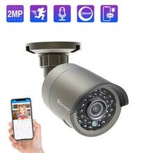 Techage 1080P POE 48V Camera IP Onvif Camera An Ninh Giám Sát Camera 2MP Ngoài Trời Hồng Ngoại Nhìn Đêm HD Camera cho POE Hệ Thống P2P