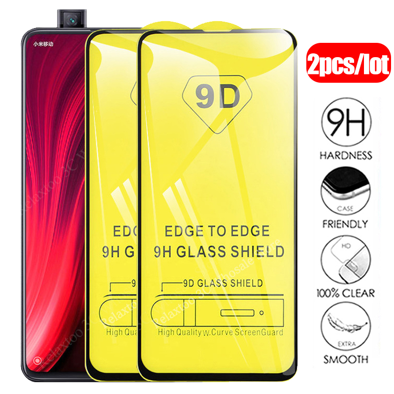 2pcs 9D Mi9t Protecive Glass For Xiaomi Mi 9t Full Glue Screen Protector On Xiomi Mi 9 Se 9se Mi9 T T9 9tpro Tempered Glas Film