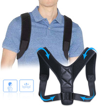 Brace Support Belt Adjustable Back Posture Corrector Clavicle Spine Back Shoulder Lumbar Posture Correction цена 2017