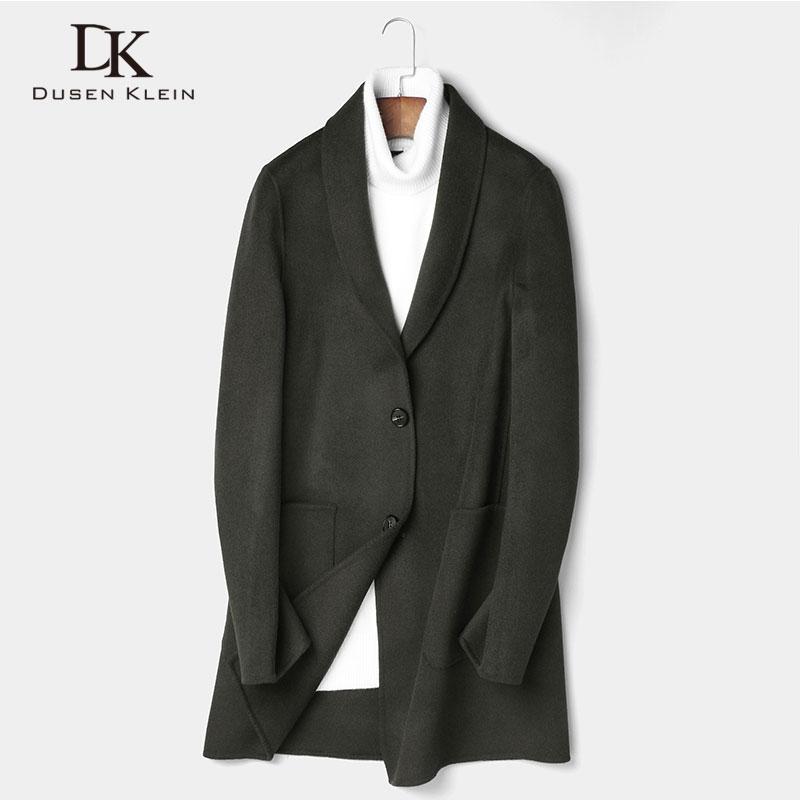 Long Wool Men Blend Coat Winter Warm Business Casual Slim Jacket z8808