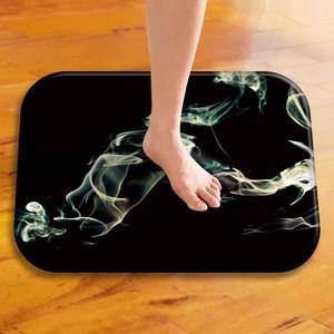 Image 5 - Hermosa alfombra suave de franela Rectangular ahumada 40*60, alfombra lavable para suelo, alfombra decorativa para hogar, dormitorio, Hotel, alfombrilla para suelo de baño