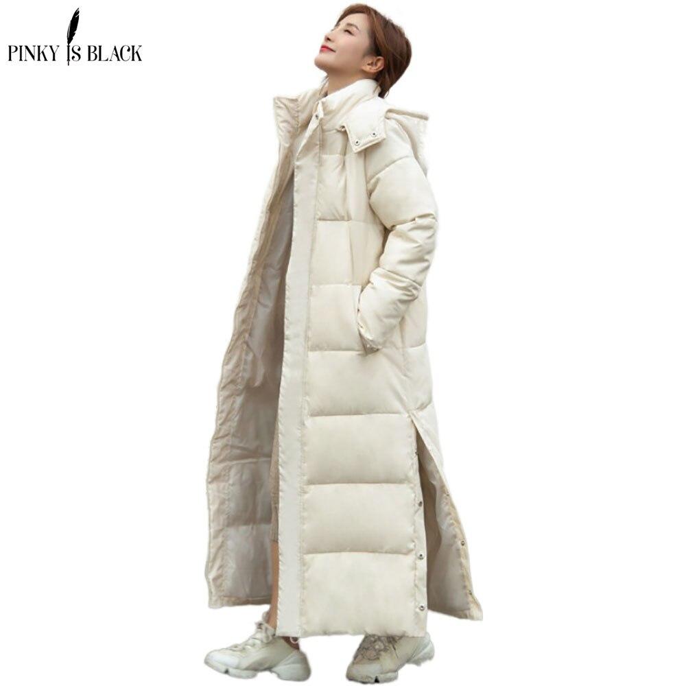PinkyIsBlack, новинка 2020, Длинные парки с капюшоном, модная зимняя куртка, женское повседневное плотное хлопковое зимнее пальто, женская теплая верхняя одежда|Парки| | АлиЭкспресс