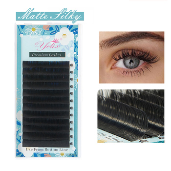 Yelix False Mink Eyelashes Matte Individual Eyelash Extension Volume Eye Lashes Extensions Natural Easy to Work and Very Soft