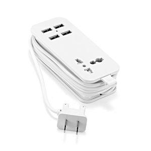 "Image 2 - ארה""ב יפן תקע 1.5m 5ft כוח הארכת שקע USB נייד נסיעות מפצל מתאם עם 2 USB חכם טלפון מטען 220V כדי 5V"