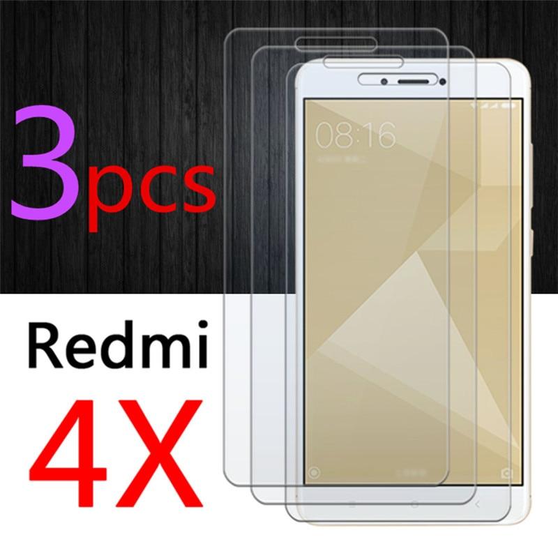 3pcs Ksiomi 4x Protective Glass For Xiaomi Redmi 4 X Tempered Glas Redmi4x X4 Readmi Xiomi Screen Protector 2.5D HD Sheet Armor