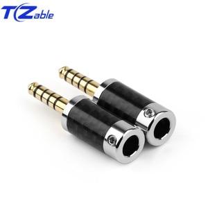 Image 4 - 1PCS Audio Connector 4.4mm 5 Pole Stereo Connectors Earphone Male Plug Headphone Jack Solder Cable Metal Splice Adapter