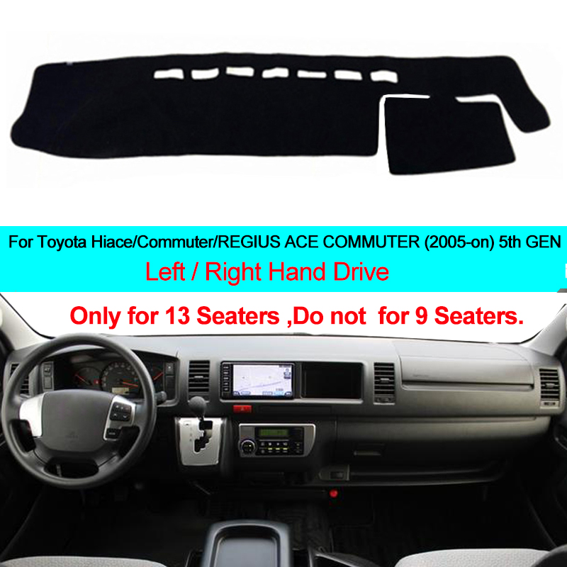 2 Layer Car Inner Dashboard Cover Dash Mat Carpet Cape Cushion DashMat Pad For Toyota Commute REGIUS ACE COMMUTER Hiace 2005-ON