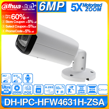 IPC HFW4631H ZSA Dahua 6MP aktualizacja kamery IP z IPC HFW4431R Z wbudowany mikrofon gniazdo karty Micro SD 5X Zoom kamera PoE