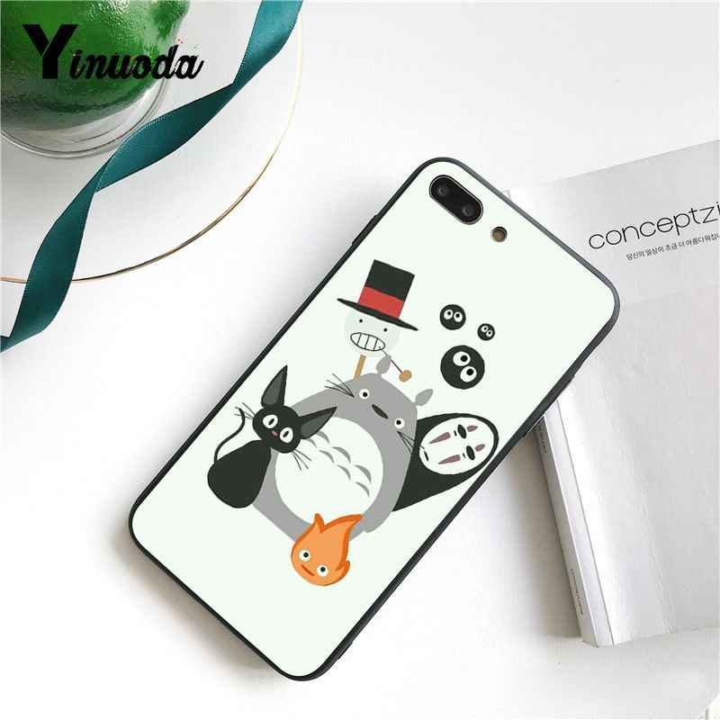 Yinuoda น่ารัก Totoro Spirited Away Ghibli Miyazaki อะนิเมะโทรศัพท์กรณีสำหรับ iPhone 6S 7 7plus 8 8Plus X Xs MAX 5 5S XR 11 Pro Max