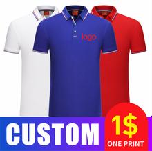 Летняя дышащая мужская рубашка поло с индивидуальным логотипом