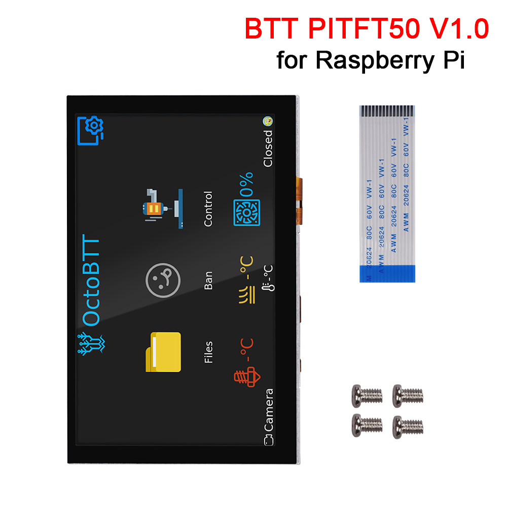 BIGTREETECH BTT PITFT50 V1.0 Capacitive Touch Screen Panel DSI <font><b>5</b></font> <font><b>Inch</b></font> LCD <font><b>Display</b></font> for Octoprint <font><b>Raspberry</b></font> <font><b>Pi</b></font> 4/3/3B+/2/2b+ image