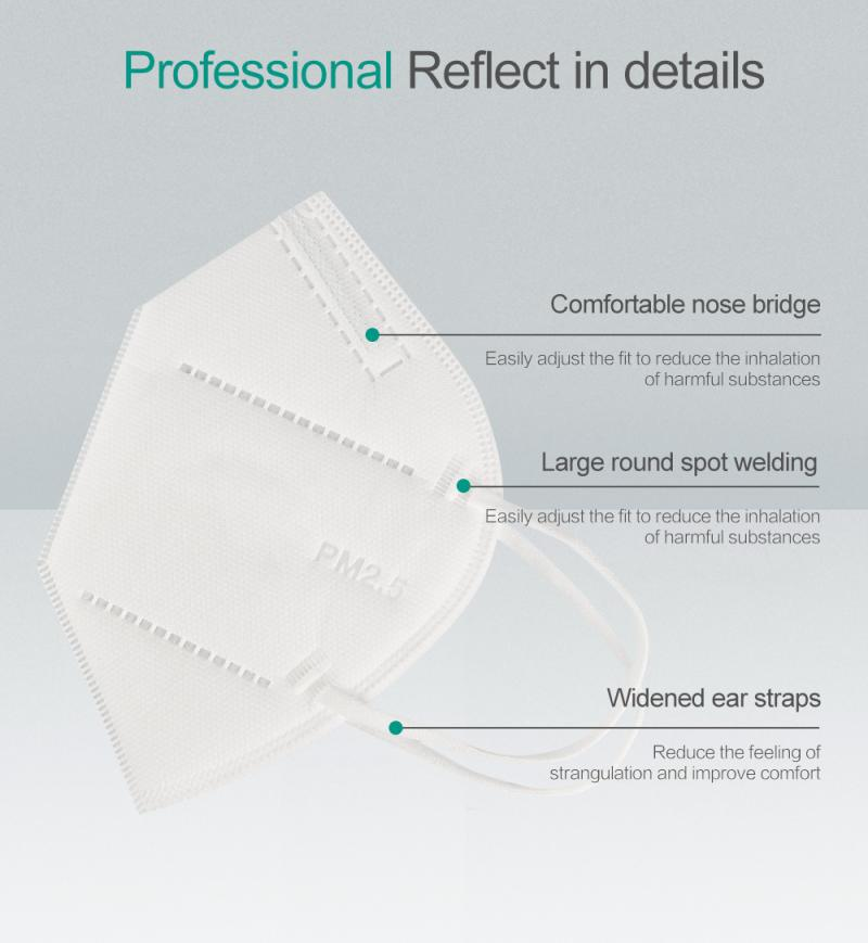 FFP2 95% filter protect mask PM2.5 KN95
