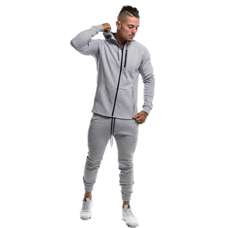 2019 Autumn Brand Sporting Suit Men Suit Men Hoodies Sets Mens Gyms Sportswear Jogger Suit Male Tracksuit Sets