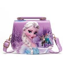 Disney princesa crianças saco do mensageiro do plutônio menina congelado elsa bolsa de ombro sofia bolsa do miúdo moda sacola de compras presente