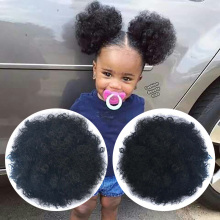 Synthetic Puff Afro Chignon Curly Fiber Hair Extension For Women Short African Bun Drawstring