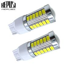 2PCS T20 7440 7443 W21W WY21W W21/5W LED car Backup Reserve Lights Car motor brake light Bulb Turn Signal Light white 12V
