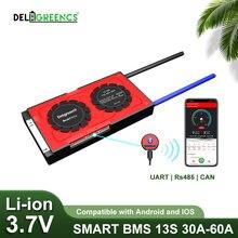 13s smart bms 30a 40a 60a с bluetooth android app для 48В литий