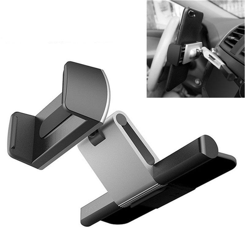HobbyLane Car Phone Holder CD Slot Aluminium Mobile Mount Cradle for iPhone Samsung for All 3.5-6.0 Inch Phone r20